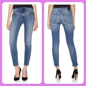 Skinny cropped Jean with zipper detail size 28